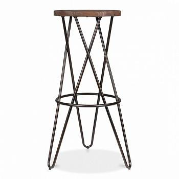 Барный стул HairPin Vega Crossed Barstool 75
