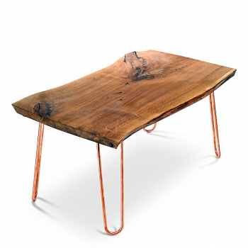 Журнальный стол Live Edge Quadruped Hairpin Coffee Table