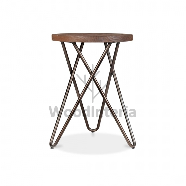 фото стул hairpin vega crossed stool 45 в интерьере лофт эко | WoodInteria